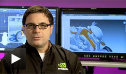 Watch video showing photorealistic rendering of Design data with NVIDIA Maximus technology