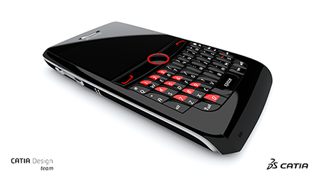Cellphone design rendered with CATIA and a Quadro graphics card