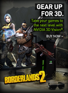 Gear Up for 3D: Take your games to the next level with NVIDIA 3D Vision