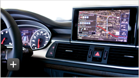 Audi infotainment and navigation system with live Google Earth