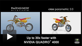 Side by side comparison of Creo Parametric 2.0 vs. Pro/ENGINEER Wildfire 5.0.
