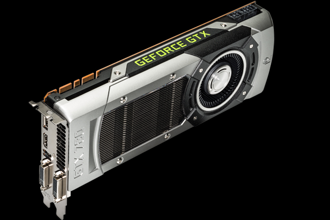 Edge view of the GTX 780 graphics card showing ports