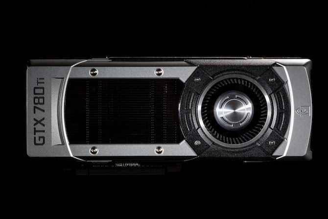 Horizontal view of the GTX 780 Ti graphics card