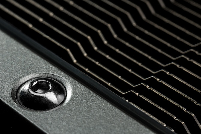 Grill detail on the GTX 780 Ti graphics card