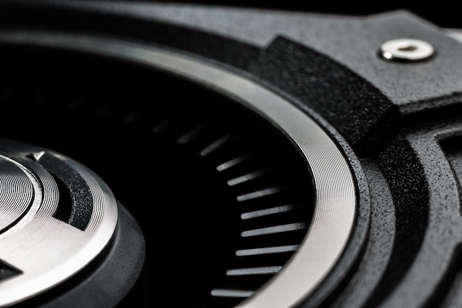 Fan close-up on the GTX 780 Ti graphics card