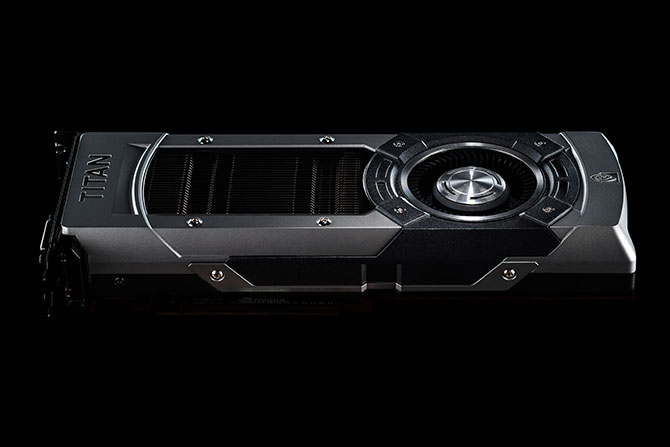 Detail shot of the GeForce GTX TITAN Black's exceptional craftsmanship